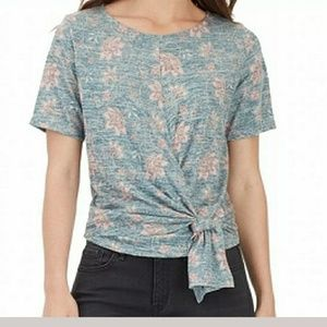 William Rast Floral Knit Top